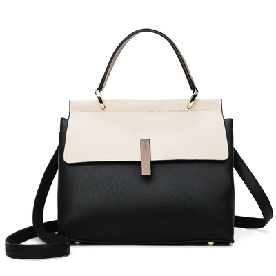 Luxe De Sac Bandoulière En Pour Main Designer Femme Grande Couleur À Capacité Cuir Nouveau Sacs Épaule Contraste Noir Femmes ZaOWp