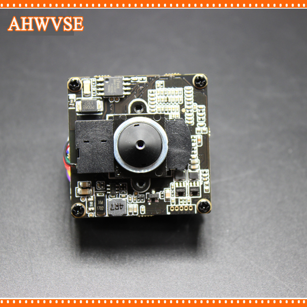 AHWVSE H.265 Hi3516E 1080P CCTV POE IP Camera module Board PCB With Pinhole 3.7mm lens ONVIF H264 Mobile XMEYE CMS IRCUT ONVIF
