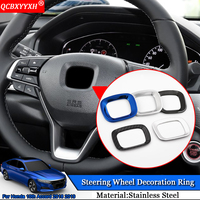 QCBXYYXH Car Styling Stainless Steel Car Steering Wheel Decoration Ring Auto Sticker Accessories For Honda 10th