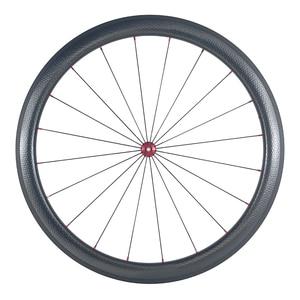Image 5 - SUPER LEGGERO 1420g 45 millimetri copertoncino figura di U bici da strada in fibra di carbonio etero pull fossette wheelset Powerway mozzi R36 fossetta ruote
