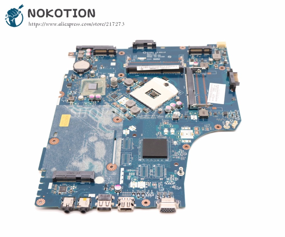 цена на NOKOTION P7YE0 LA-6911P Laptop motherboard For Acer aspire 7750 7750Z MAIN BOARD HM65 UMA DDR3 MBRN802001 MB.RN802.001