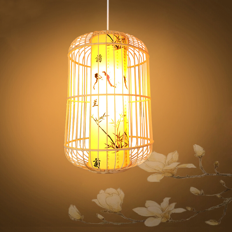restoring ancient ways of rural cany art decoration simple droplight bamboo Pendant Lights new hotel restaurants teahouse european ways of law