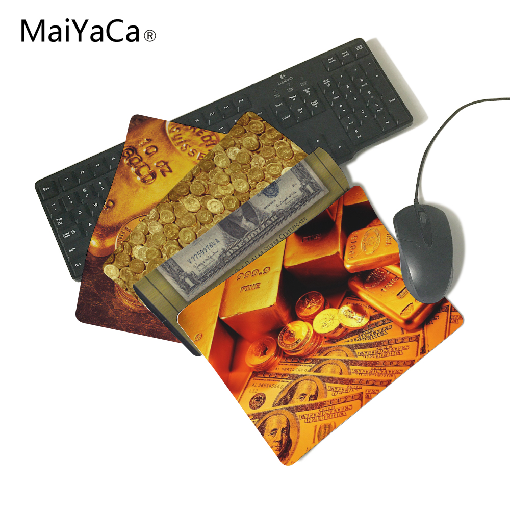Paper Money. Coins, Gold Bars Computer Mouse Pad Mousepads Rubber Pad