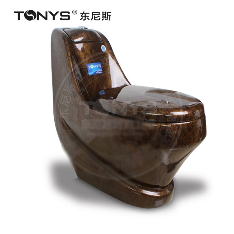 Coffee Color Toilet One-piece Dark Brown Ceramic Toilets Bathroom Antique Looking Personalized Flush Toilet Closestool chair
