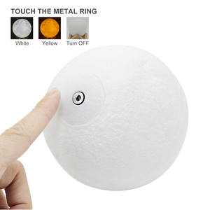 Image 2 - Dropship USB 3D light fixtures 8CM 10CM  moon lamp levitating night light led Color Change Touch Lighting Bedrooms Lamp