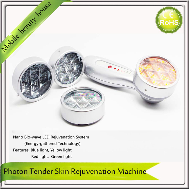 Portable LED Photon Rejuvenation Beauty Device Red Green Yellow Blue ...