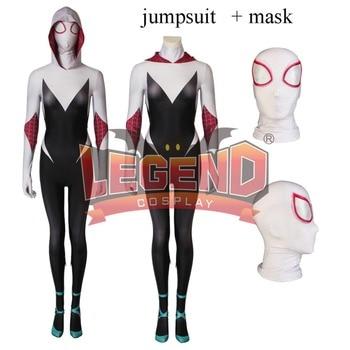 Spider Gwen Stacy Cosplay Costume Spiderman Zentai Superhero Bodysuit Suit Jumpsuits Spider-Gwen Costume