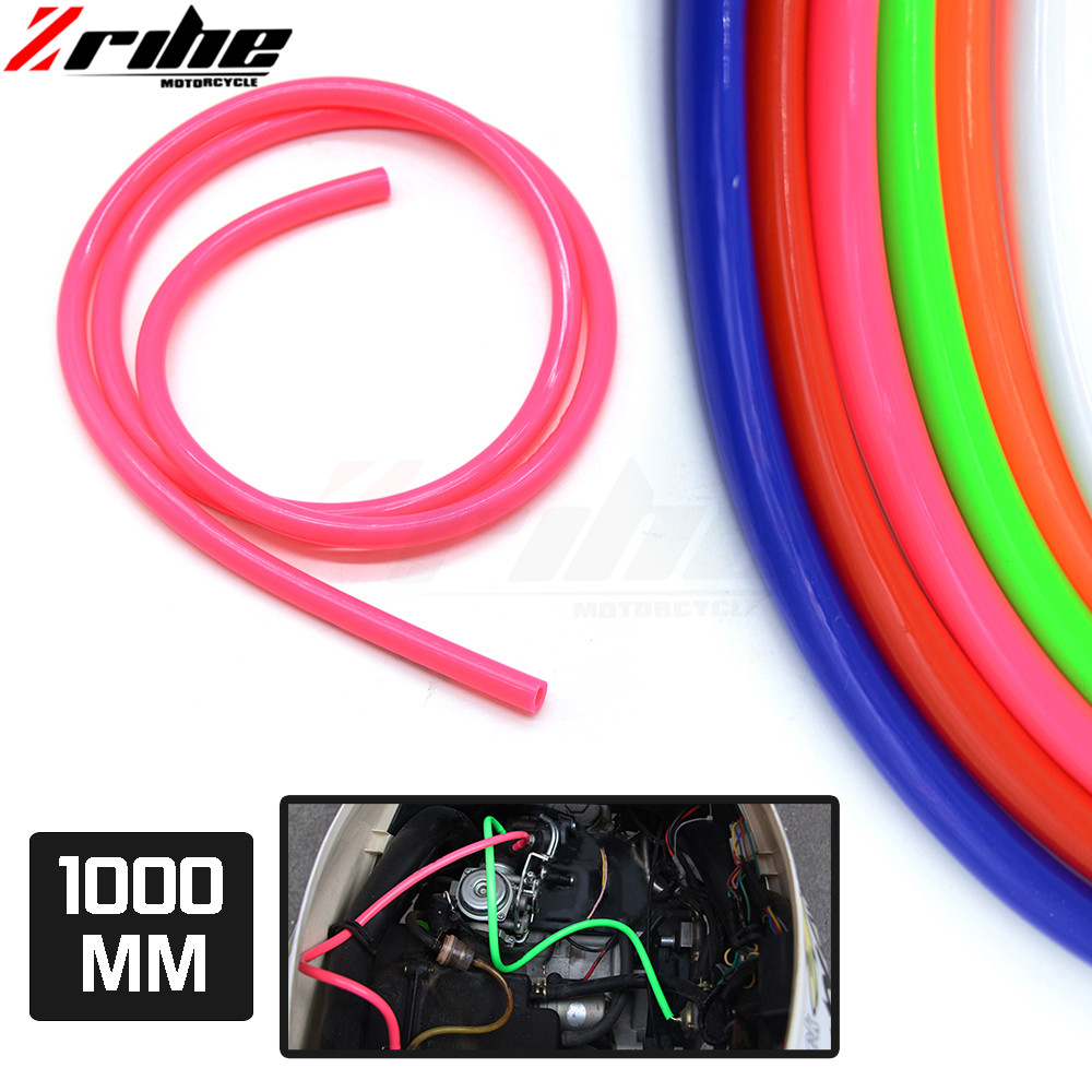 for 2017 1M Colorful Gas Oil Hose Fuel Line Petrol Tube Pipe For Motorcycle Dirt Pit Bike ATV low price for yamaha ktm honda suz oil leakage suction pipe siphon tube hose manual fuel transfer pump sucker fuel tank180cm auto vehicle necessary ad1002