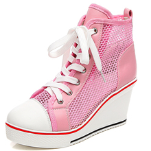 High Tops Breathable Wedges Platform Women Casual Shoes