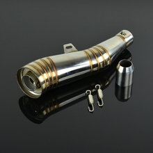 38MM 51MM Motorcycle Stainless Steel font b Exhaust b font Pipe and Muffler font b System