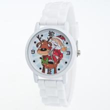 Hot Christmas Gifts Children  Watches Color Fashion Silicone Strap Clock Kids Student Wrist Watch wholesale F3