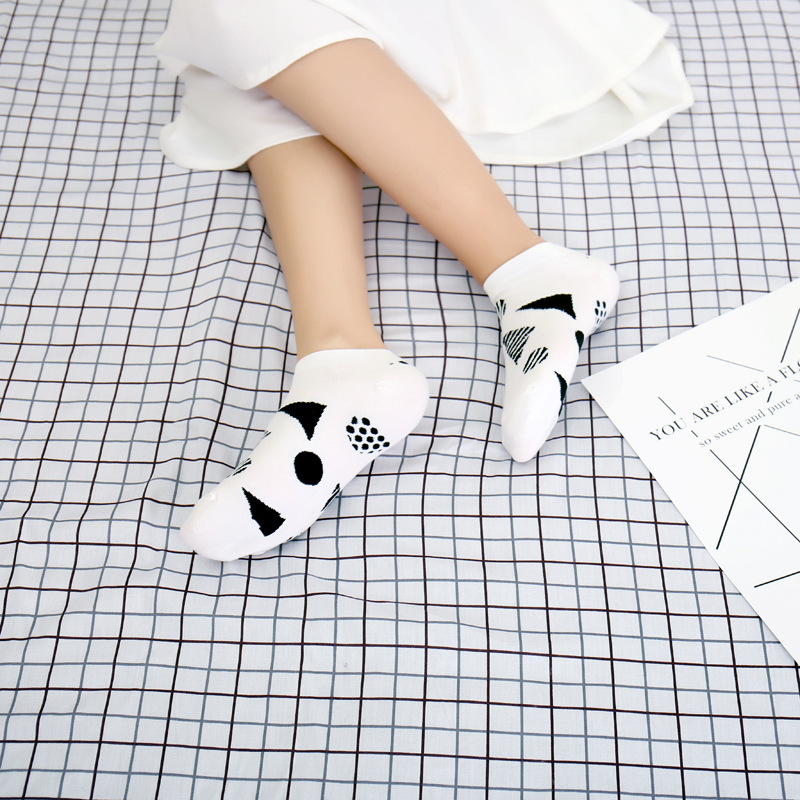 2018 Cute 3D Cartoon Animal Cat Socks Pattern Women Men Kids Cotton Female Fashion Casual Short Random 5 Pcs/Lot