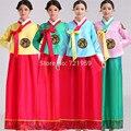 Высокое Качество Женщины Вышивка Традиционной Корейской Платье Моды Национального Косплей Костюм Азиатско-Тихоокеанский одежда Корейский Ханбок