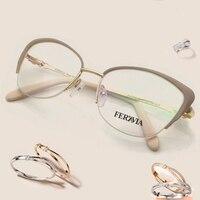 Fashion Women Brand Designer Cat S Eye Glasses Half Frame Cat Eye Glasses Women Eyeglasses Frames