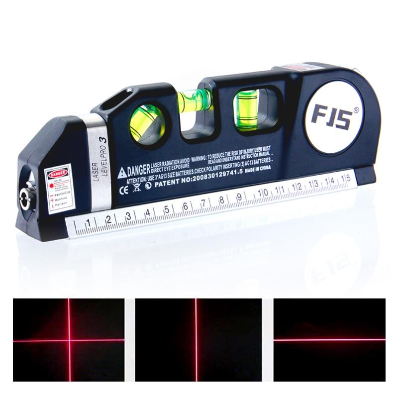 FJS 4 در 1 لیزر مادون قرمز سطح خطوط لیزر - ابزار اندازه گیری