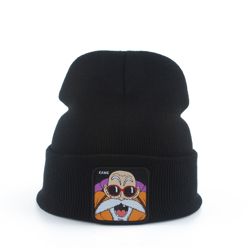 KAME Dragon Ball Casual Beanies For Men Women Fashion Skullies Winter Knitted Hat Solid Color Hip-hop Hat Bonnet Unisex Ski Cap