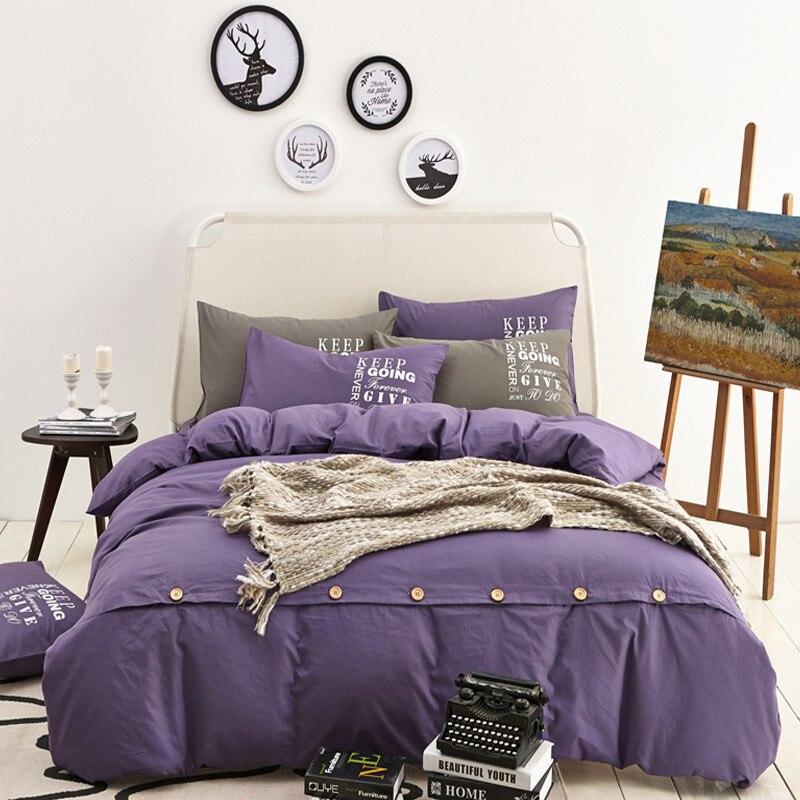 king size juego de cama algodn funda nrdica textiles para el hogar con botones