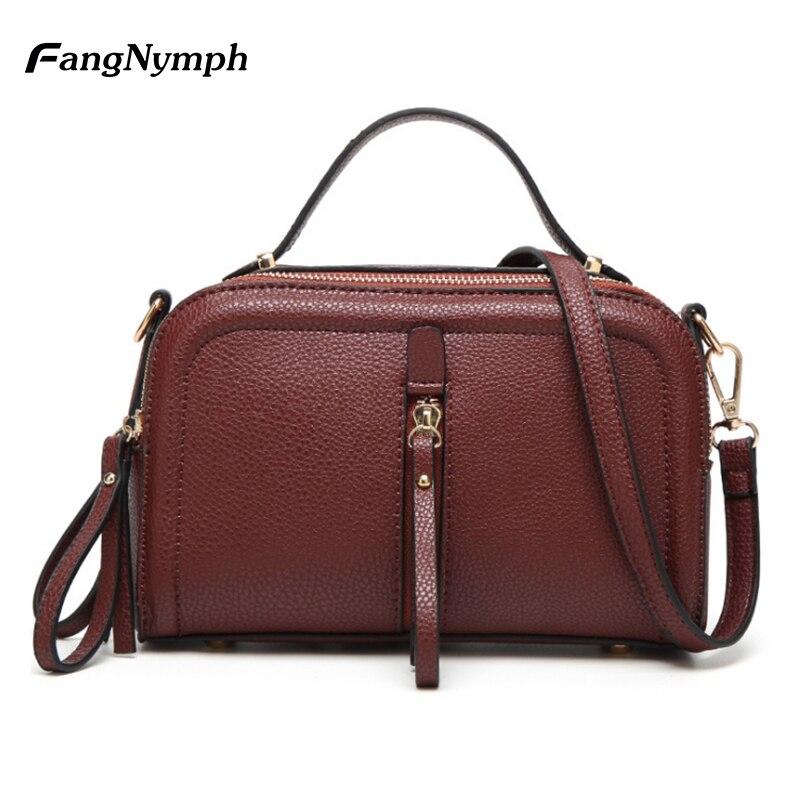 d257a193a4b FangNymph Fashion lederen tassen voor vrouwen 2018 luxe handtassen ...