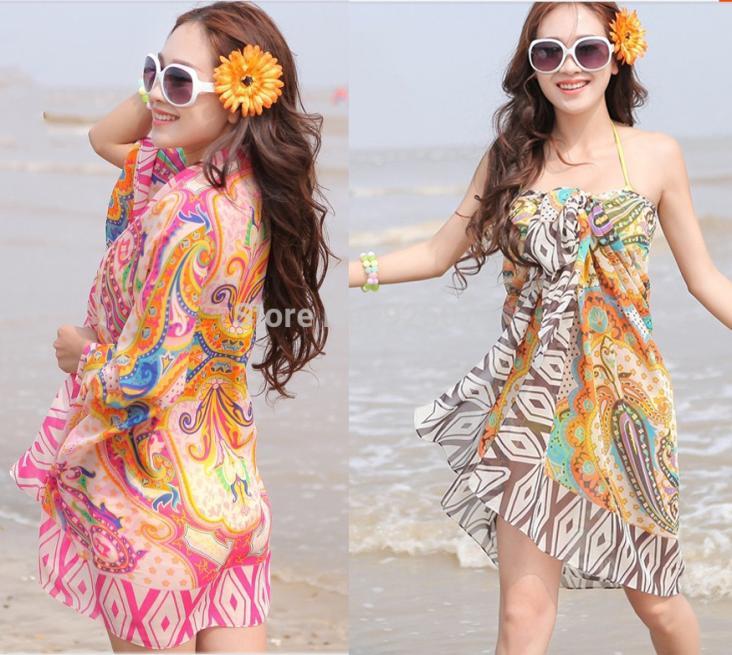 Bohemia Chiffon Sarong Scarf Wrap Skirt Pareo Beach Bikini Cover Swimwear - Online Store 925071 store