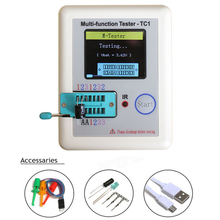 2017 Transistor Tester TFT Diode Triode Capacitance Meter LCR ESR NPN PNP MOSFET LCR-TC1 3.5inch TFT Free Shipping