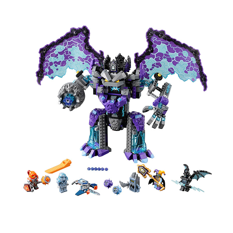 BELA 10705 Pogo Compatible Legoe Nexus Nexo Knights Powers Pouvoirs Aaron Lance Clay Building Blocks Bricks Toys