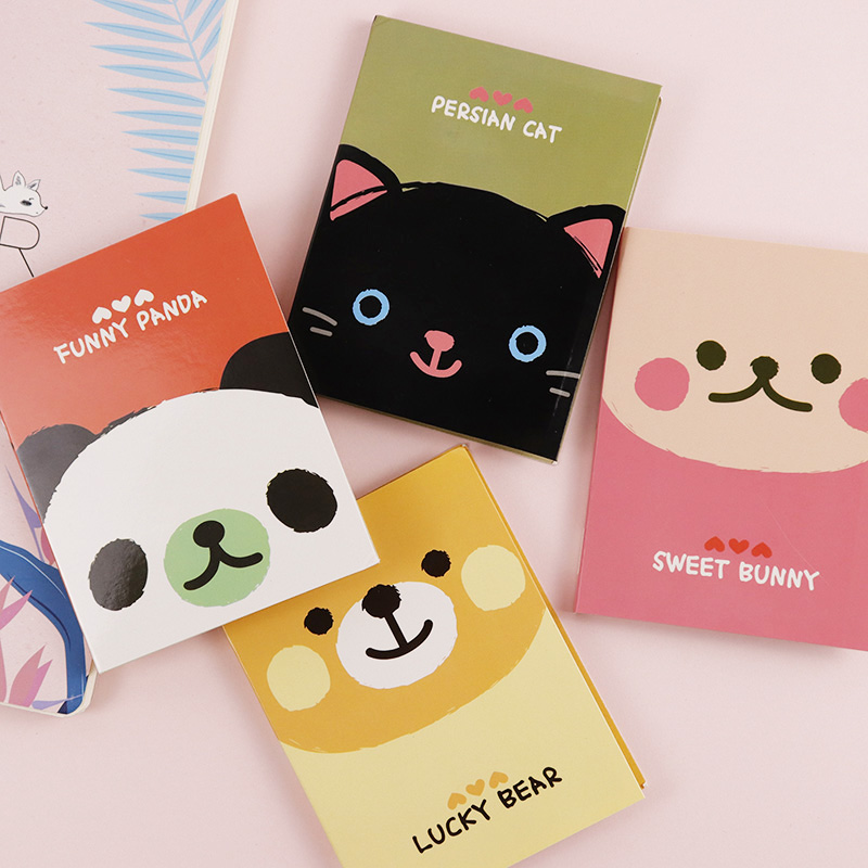 Cute Kawaii Cartoon Animal Cat Bear Memo Pad Post It Note Sticky Paper Korean Stationery Planner Stickers Pads Office School