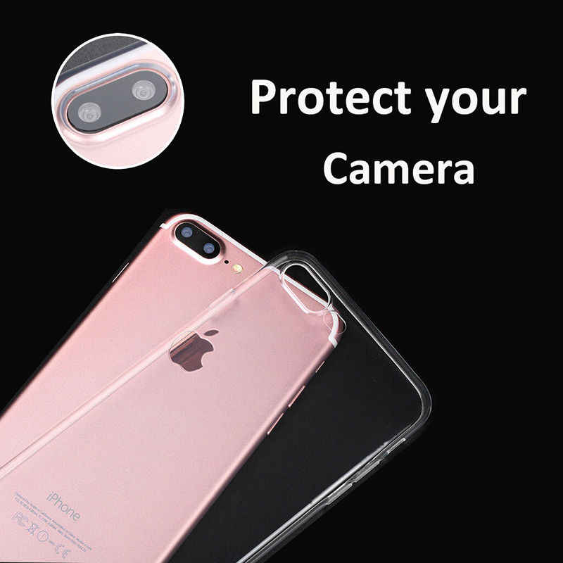 Ultra thin Clear Transparent TPU Silicone Case For iPhone XS MAX XR Case Phone Case For iPhone 6 6s 8 7 Plus X 10 5s se 5 Cover