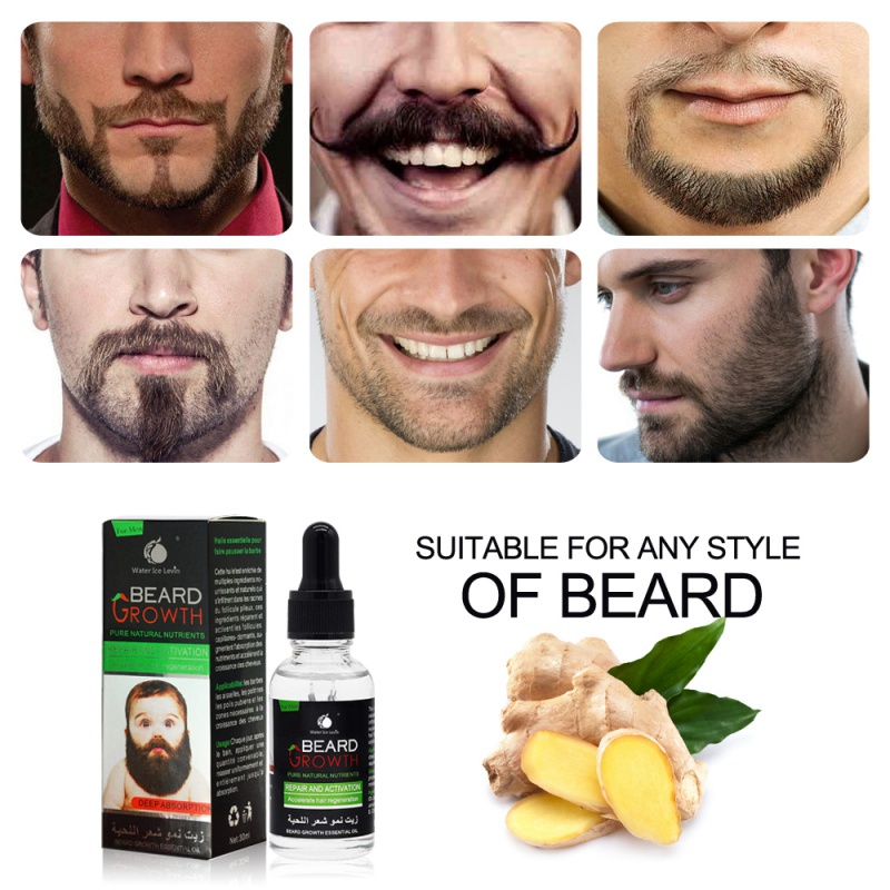 DropShipping Beard Growth Serum Nourishing Beard Anti-Dandruff Anti-Static Natural Plant Nutrients Beard Growth Liquid