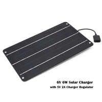 Chargeur solaire 10W 6W chargeur de panneaux solaires avec Port Usb chargeur de batterie solaire pour téléphones mobiles 5V USB