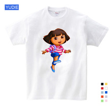 3T-9T Girl Summer Clothing Casual Shirts Funny T Shirt Children Tops New Child Dora The Scout YUDIE