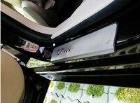 أعلى ستار الفولاذ المقاوم للصدأ 4 قطعة عتبة باب السيارة جرجر القدم ، لوحة الحرس ، ملصقا الحماية لكرايسلر setch