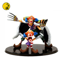 Funny One Piece New 15CM Shichibukai Buggy the Star Clown with Small Clown Boxed PVC Action Figures Model Toy Gift B573
