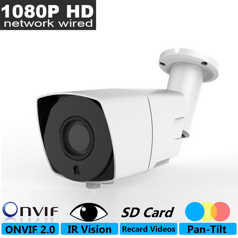 ФОТО 2mp 1080P Full-HD Network Wired Camera, Metal Waterproof  Outdoor iP Camera, 1/4 inch Night Vision Infrared Video CCTV CAM