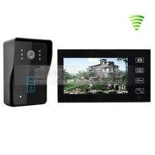 DIYSECUR Táctil Inalámbrico de 7 Pulgadas Video de La Puerta de Intercomunicación Teléfono Timbre Cámara de Sistema de Seguridad RFID