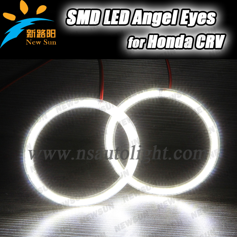 For Honda smd led angel eyes 105mm super bright 7000k full circle angel eyes kit 4rings per set потолочна лстра mantra zen chrome 1422