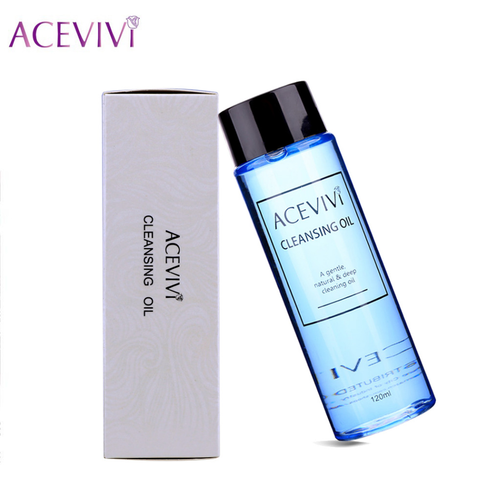 ACEVIVI 120ml Makeup Remover Cleaner Deep Cleaning Oil Facial Cleanser Face Eye Lips <font><b>Skincare</b></font> Shrink Pores Purify Demaquilante
