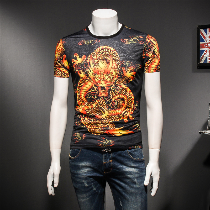 Chinese Dragon Beautiful 3d Printing Streetwear Short Sleeve T Shirt Summer 2019new Quality Soft Breathable Boutique T Shirt Men High Quality Men's Clothing T-shirts