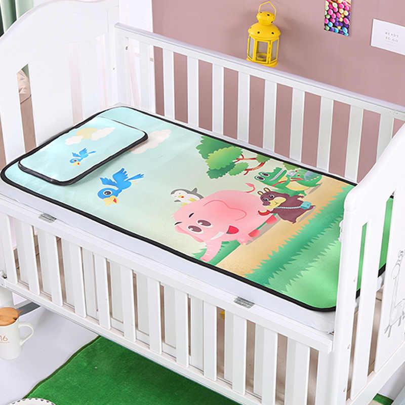 Летние коврик комплекты ребенок floding коврик От 0 до 5 лет ребенка коврик Детская кровать синий зеленый плоской подошве цветок лиса постельное белье Подушка 2 шт.