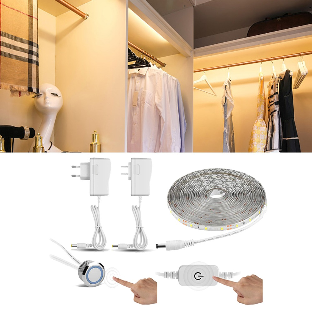 Lights & Lighting Reasonable Usb Charging Touch Switch Dimmable Night Light Mirror Lights Long Strips Aluminum Wall Lamp For Cabinet Bedside Bathroom Kitchen