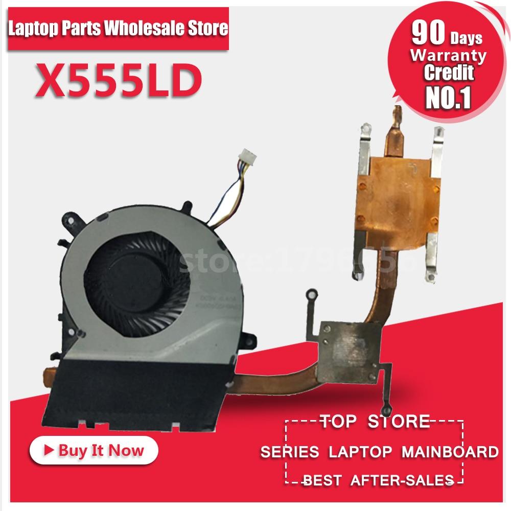 For X555LD X555LP X555LJ X555LF X555LI X555L A555L K555L F555L Motherboard CPU Cooling Fan Radiator Heatsink Cooler Tested for asus u46e heatsink cooling fan cooler