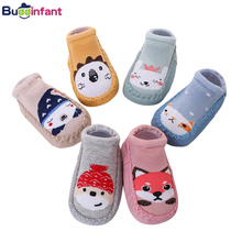baby boy socks cotton warm floor sock with rubber soles toddler shoe socks infant girl home slippers newborn baby shoes footwear cheap HWS0802