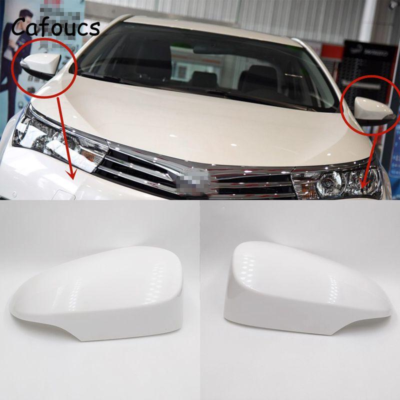 Cafoucs For Toyota Corolla Rear View Mirror Cover Cap 2014 2015 2016 2017 Accessories 87945-02930 87915-02930