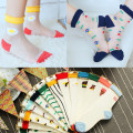 Free Shipping Women Summer cute Cotton-Sole Thin Transparent Socks