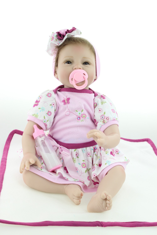 New design lifelike reborn baby dolls fashion doll silicone vinyl real soft gentle touch for children женское платье brand new s 5xl 2015 vestidos gj64
