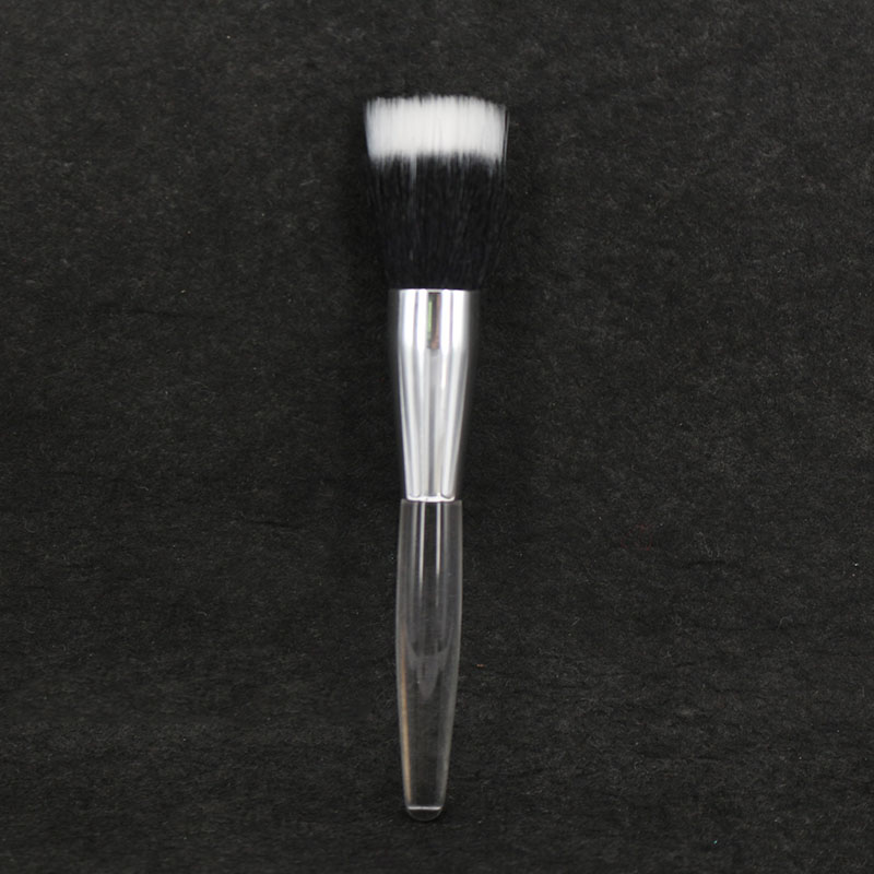 Top Quality Duo Fiber Makeup Brush Face Foundation Powder Tool Mistake Proof Sheer Application Brush top quality foundation brush angled makeup brush