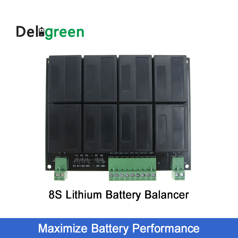 8 s/24 v QNBBM Batterie Au Lithium Equalizer Balancer BMS pour LIFEPO4, LTO MR LMO 18650 DIY Pack