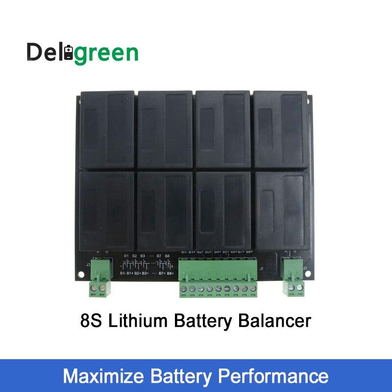 8S/24V QNBBM Lithium Battery Equalizer Balancer BMS for LIFEPO4,LTO NCM LMO 18650 DIY Pack lto battery bms 5s 12v 80a 100a 200a lithium titanate battery circuit protection board bms pcm for lto battery pack same port