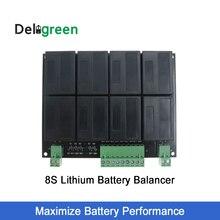 QNBBM Lithium Battery Equalizer 8S 24V balancer lifepo4 LTO NCM LMO 18650 DIY Pack voltage balancing