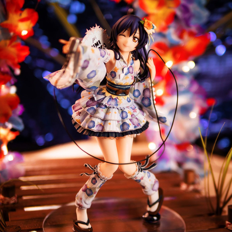 21CM pvc Japanese anime figur love live Sonoda Umi kimono dressing  action figure collectible model toys new love live cosplay shoes sonoda umi lonelive anime party boots custom made