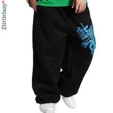 Новинка, модные мужские штаны для бега с принтом, мужские повседневные мешковатые штаны для бега в стиле хип-хоп, мужские спортивные брюки, Pantalon Homme B83